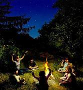 Campfire Story Print by Tom Straub
