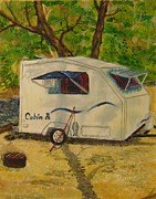 Camper Paintings - Campground Home by Nicole Angell