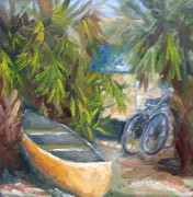 Florida Panhandle Painting Posters - Campground Poster by Susan Richardson