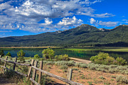 Haybales Art - Campground View Of Lake Cascade by Robert Bales