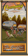 Rv Posters - Camping Ft Griffin RV Park Poster by Jim Sanders