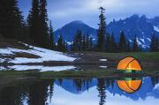 Featured Metal Prints - Camping Tent At Sunset By A Small Metal Print by Stuart Westmorland