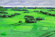 Golf Course Posters - Campo Da Golf Poster by Guido Borelli