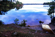Canoe Photo Prints - Campsite Serenity Print by Thomas R Fletcher