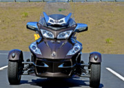 Road Travel Posters - Can-Am Spyder - The Spyder Five Poster by Christine Till