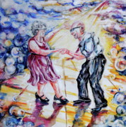 Old Age Painting Originals - Can I Have This Dance for the Rest of My Life by Margaret Donat