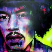 Jimi Hendrix Painting Prints - Can You Hear Me Print by Christian Chapman Art