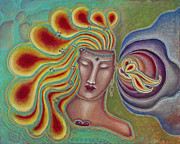 Visionary Artist Painting Posters - Can You Hear Metamorphosis Poster by Annette Wagner