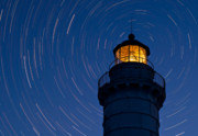 Astronomy Photo Prints - Cana Island Lighthouse Solstice Print by Steve Gadomski