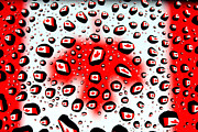 Surrealistic Prints - Canada Flag In Water Drops Print by Mingqi Ge