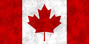 Flag Digital Art - Canada Flag by World Art Prints And Designs