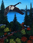 Barbara Griffin - Canada Goose Leaving in the Fall