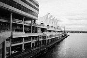 North Vancouver Framed Prints - canada place cruise terminal vancouver on a dull grey overcast day BC Canada Framed Print by Joe Fox