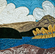 Mountain Tapestries - Textiles Prints - Canada Print by Susan Macomson