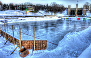 Outdoor Hockey Prints - Canadas Game Print by Rob Andrus