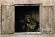 Military Training Posters - Canadian Army Soldier Conducts Military Poster by Stocktrek Images