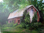 Shed Painting Posters - Canadian Barn/Shed Poster by Darla Freeman
