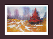 Peaceful Scenery Pastels Framed Prints - Canadian Calm Framed Print by Matthys Moss