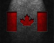 Canadian Flag Stone Texture Print by Brian Carson