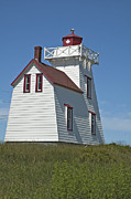 Red Roof Photo Originals - Canadian Lighthouse by Ruth H Curtis