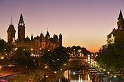 Down Town Prints - Canadian Parliament Buildings Print by Tony Beck