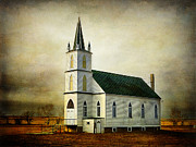 Zion Lutheran Church Framed Prints - Canadian Prairie Heritage Framed Print by Blair Wainman