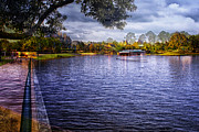 Merged Prints - Canal Boat Ride Walt Disney World Merged Image Print by Thomas Woolworth