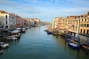 Vaporetto Framed Prints - Canal grande in Venice Framed Print by Matteo Colombo
