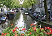 Amsterdam Posters - Canal of Love Poster by Mike Podhorzer
