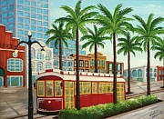 Canal Street Paintings - Canal Street Car Line I I by Valerie Chiasson-Carpenter