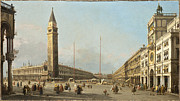 Canaletto Paintings - Canaletto Antonio Canal - Piazza San Marco Looking South and West by Alexandr Anton