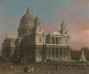 Delacroix Prints - Canaletto St  Paul s Cathedral c 1754 Print by MotionAge Art and Design - Ahmet Asar