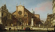 Whistler Paintings - Canaletto Venice The Campo SS. Giovanni e Paolo 1736 40 by MotionAge Art and Design - Ahmet Asar