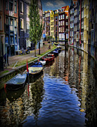 Modern World Photography Posters - Canals of Amsterdam Poster by Lee Dos Santos