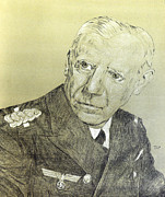 Chief Drawings Originals - Canaris German Admiral by Dennis Larson
