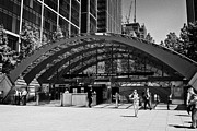 Canary Metal Prints - canary wharf jubilee line underground station London England UK Metal Print by Joe Fox
