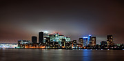 Skylines Framed Prints - Canary Wharf Framed Print by Mark Rogan
