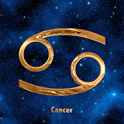 Zodiac Sign Prints - Cancer Print by Marsha Charlebois