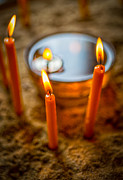 Holidays And Celebrations Prints - Candels 4 Print by Dobromir Dobrinov