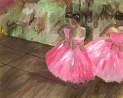 Ballet Dancers Posters - Candied Roses after Degas Poster by Rachel Lawson