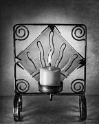 Candle Metal Prints - Candle and Candle Holder Metal Print by Ian Barber