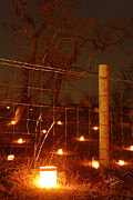 Antietam Photos - Candle at Wire Fence 2 - 12 by Judi Quelland