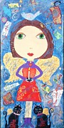 Angel Paintings - Candle Fairy by Kerri Ambrosino GALLERY