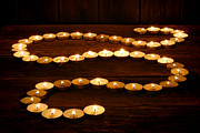 Meditative Photos - Candle Path by Olivier Le Queinec
