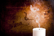 Candel Prints - Candle Smoke Trails Print by Tim Hester