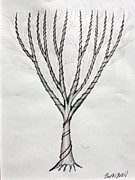 Pen And Ink Drawing Drawings - Candle Tree by Fred Miller