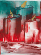 Hot Wax Paintings - Candlelights by Ana Lusi