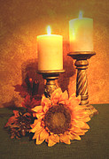 Zelma Hensel - Candles and Sunflower