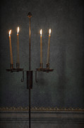 Candles In The Dark Print by Margie Hurwich