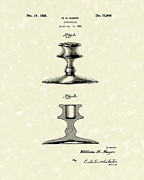 Candle Holder Framed Prints - Candlestick 1926 Patent Art Framed Print by Prior Art Design